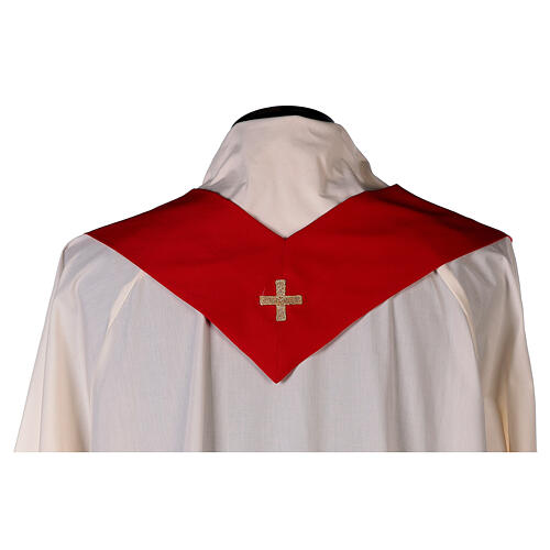 Set 4 chasubles polyester 4 couleurs IHS croix rayons PROMO 12