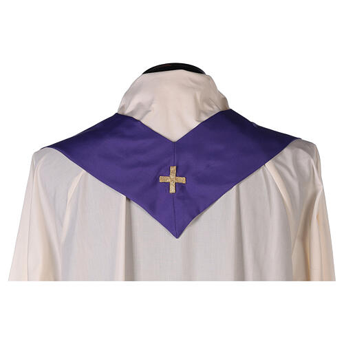 Set 4 chasubles polyester 4 couleurs IHS croix rayons PROMO 13