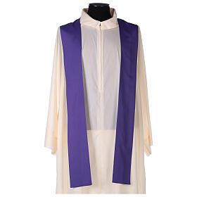 Set 4 chasubles liturgiques polyester 4 couleurs croix brodée PROMO s10