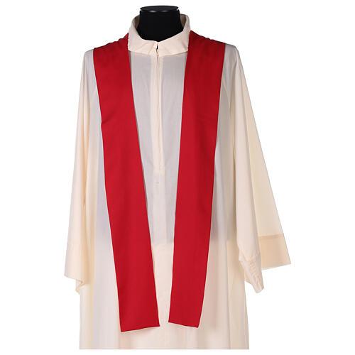 Set 4 chasubles liturgiques polyester 4 couleurs croix brodée PROMO 8