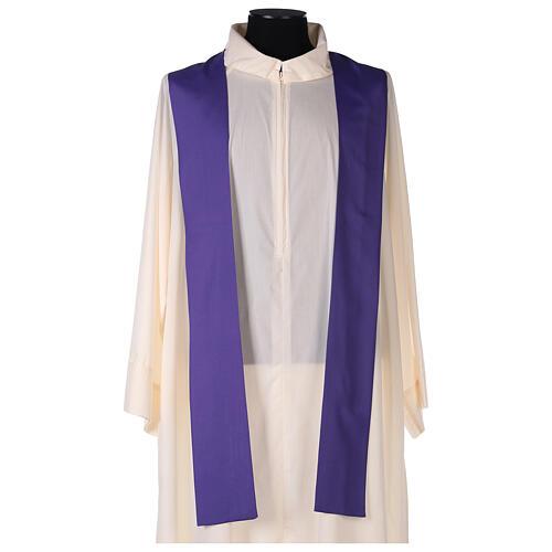 Set 4 chasubles liturgiques polyester 4 couleurs croix brodée PROMO 10