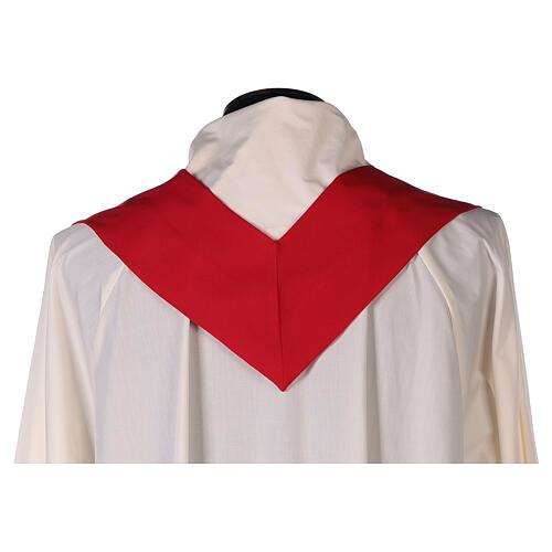 Set 4 chasubles liturgiques polyester 4 couleurs croix brodée PROMO 12