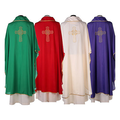 Set of 4 Chasubles 4 colors, cross SPECIAL PRICE 14