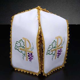 Ciborium veil, cross shaped Chi-Rho symbol s2