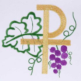 Ciborium veil, cross shaped Chi-Rho symbol s4