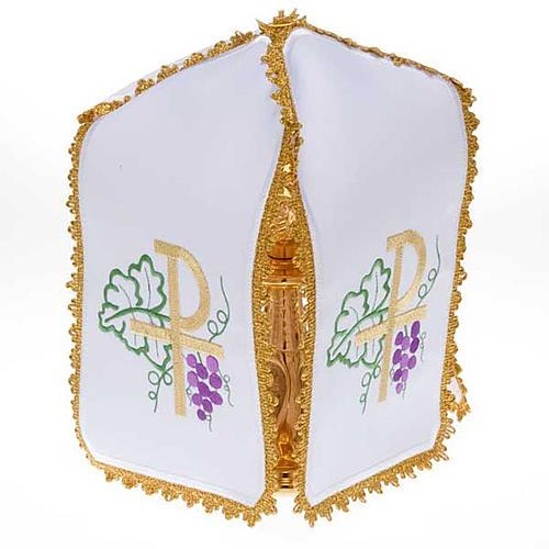 Ciborium veil, cross shaped Chi-Rho symbol 1