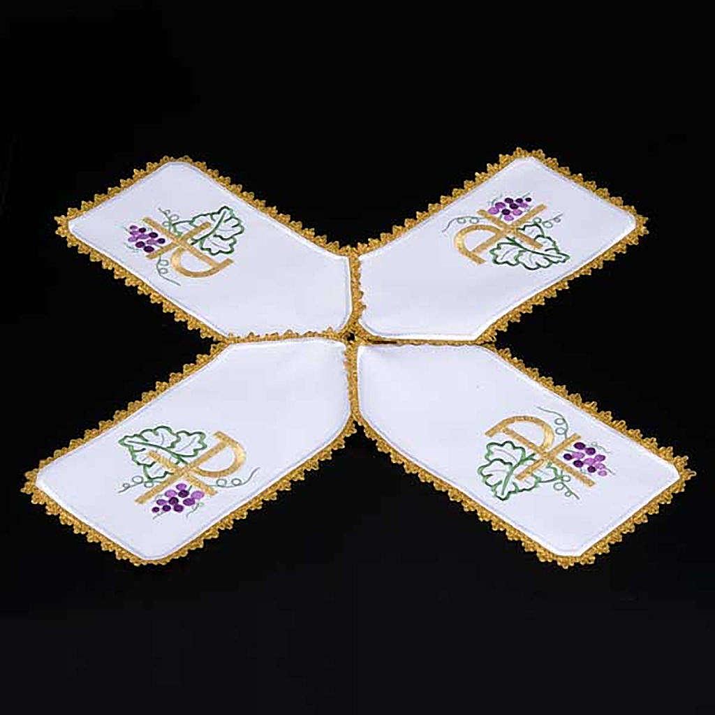 Copri pisside tessuto bianco a croce XP uva 4