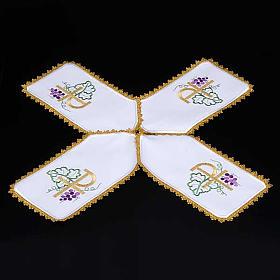 Copri pisside tessuto bianco a croce XP uva s3