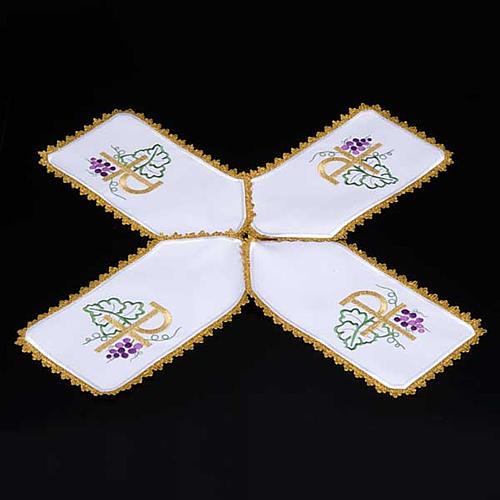 Copri pisside tessuto bianco a croce XP uva 3