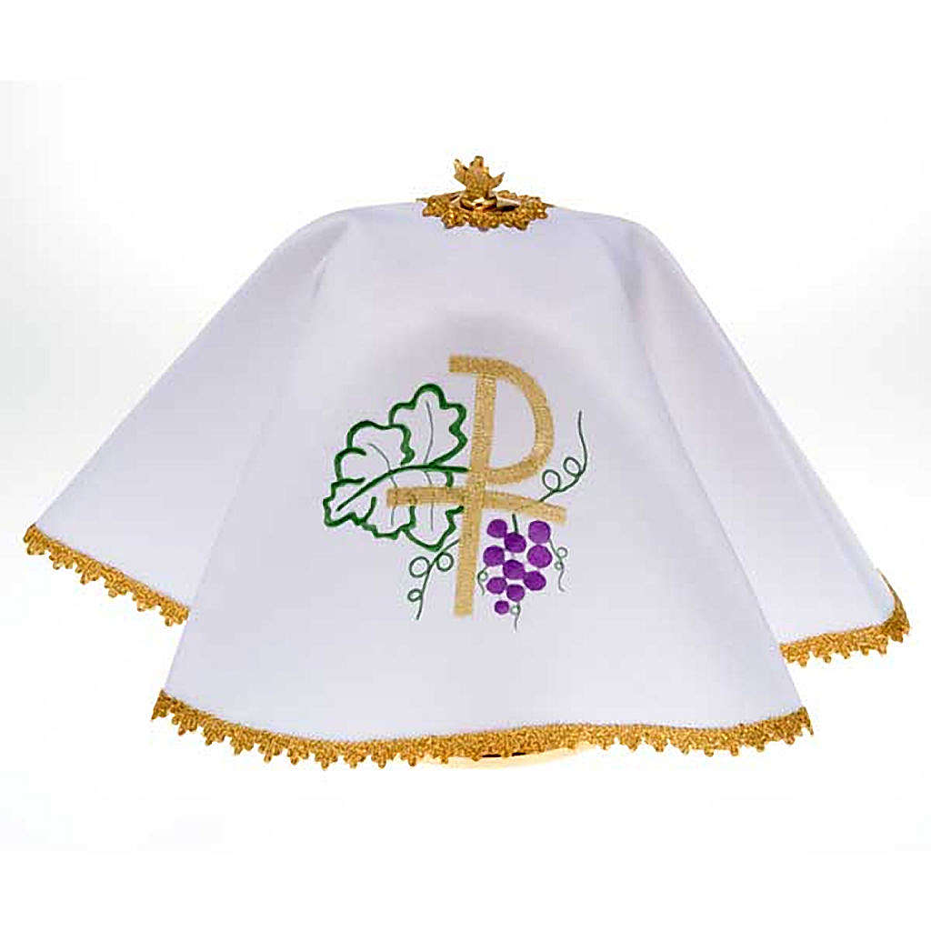 Ciborium veil, Chi-Rho and grapes 4