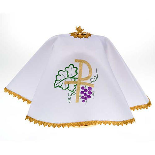 Ciborium veil, Chi-Rho and grapes 1