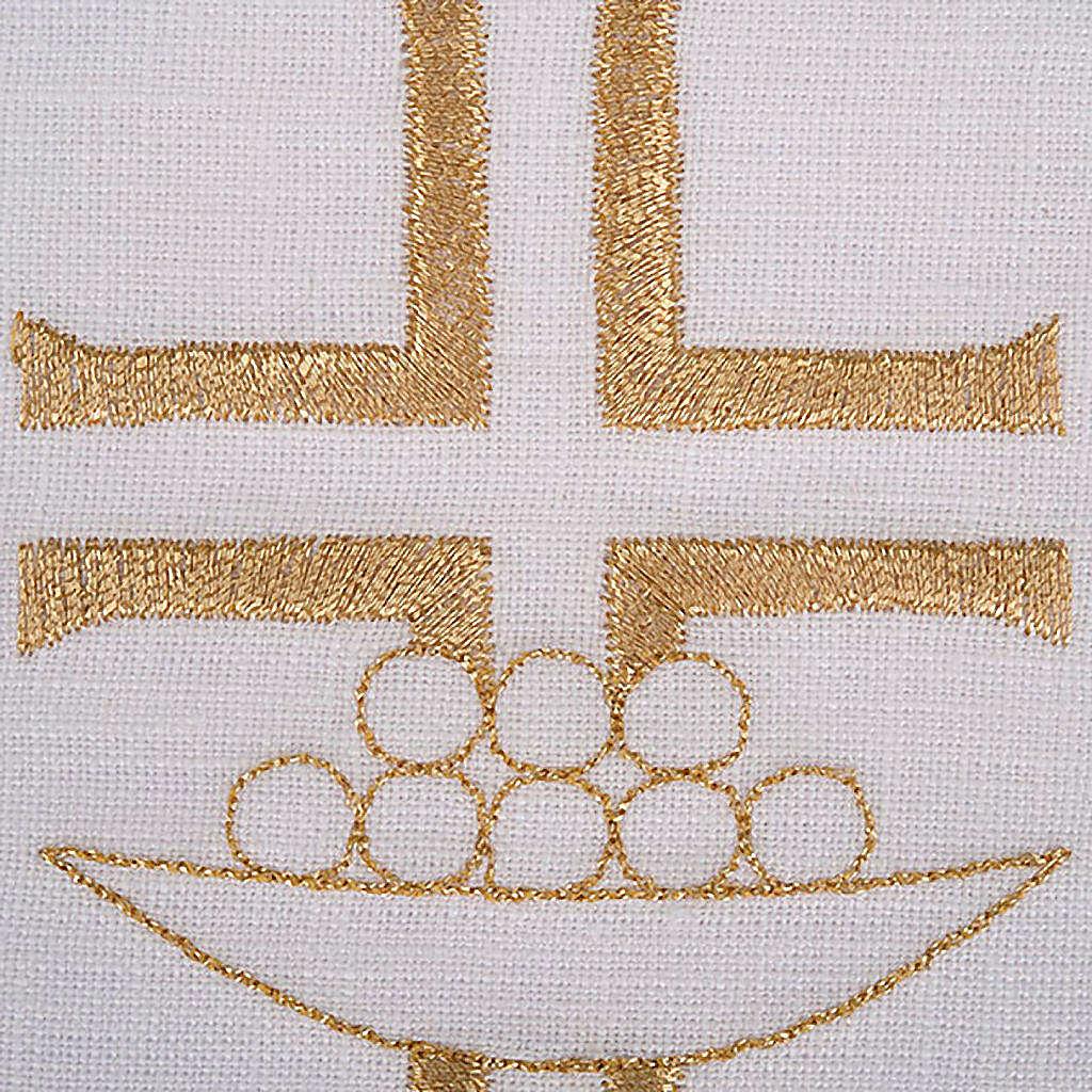 Linge d'autel pains et poissons set 4 pcs 4