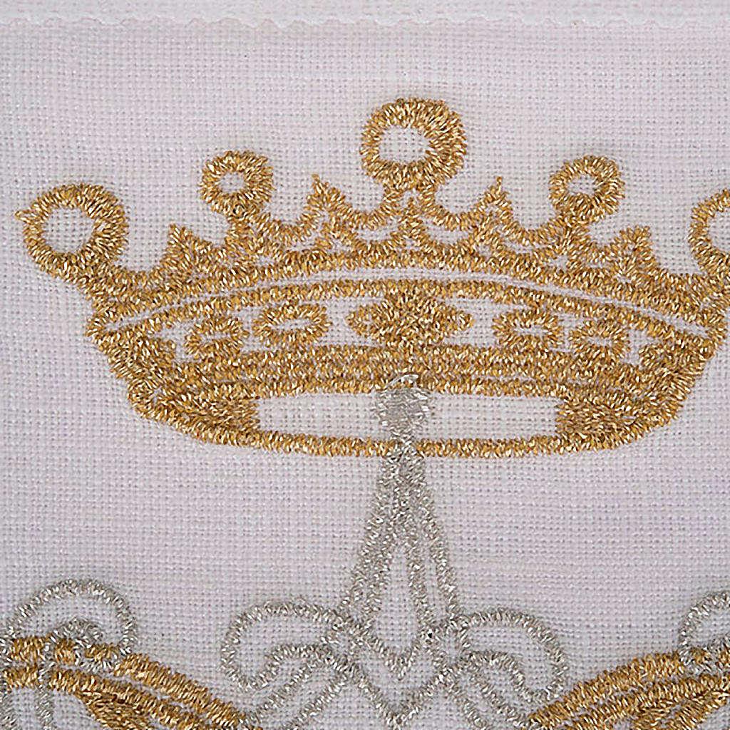 Mass linen set 4 pcs. Marian symbol gold silver 4