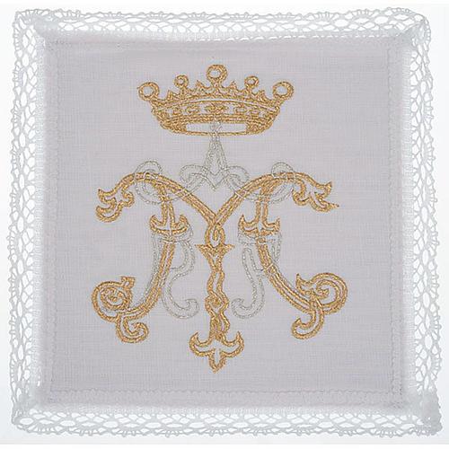 Mass linen set 4 pcs. Marian symbol gold silver 1