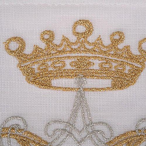 Mass linen set 4 pcs. Marian symbol gold silver 3