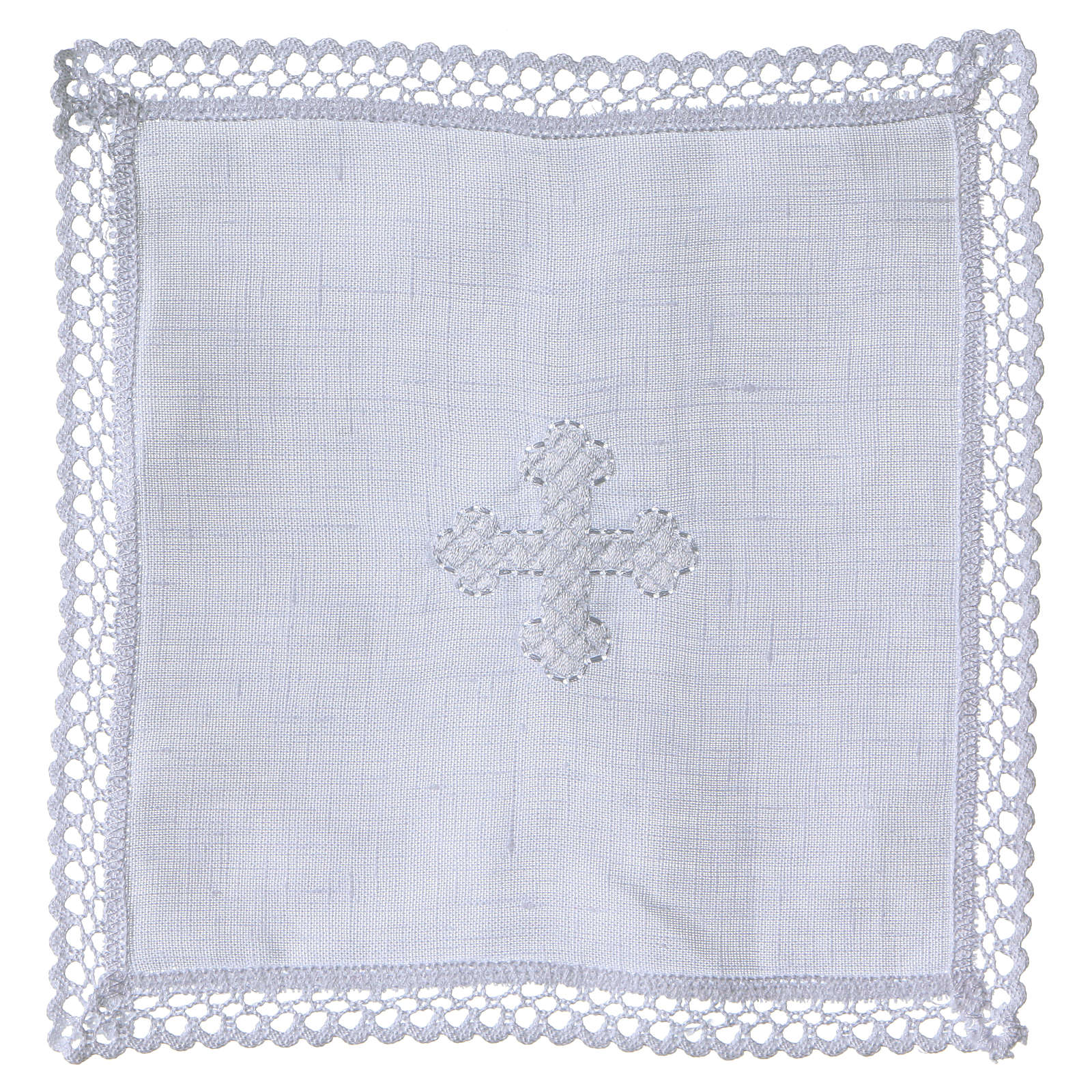 Altar linens with white cross 4