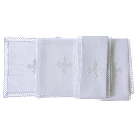 Altar linens with white cross s2