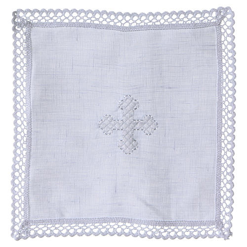 Altar linens with white cross 1