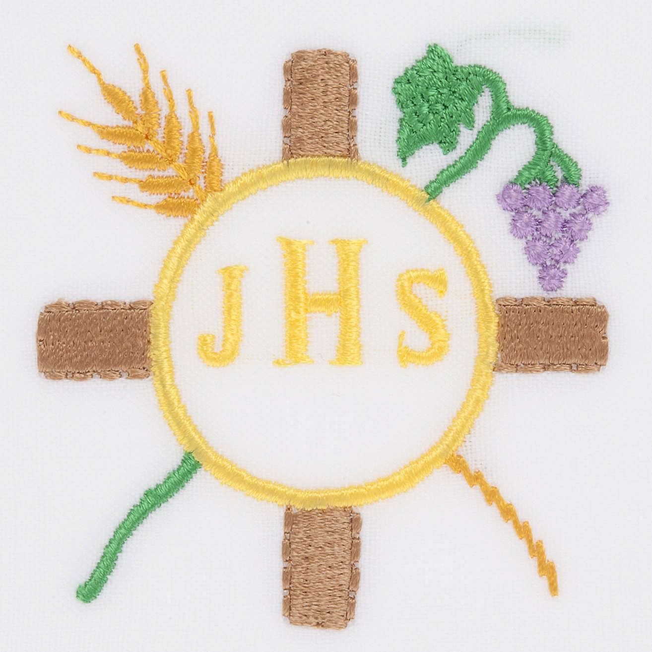 Linge d'autel IHS épi raisin 4