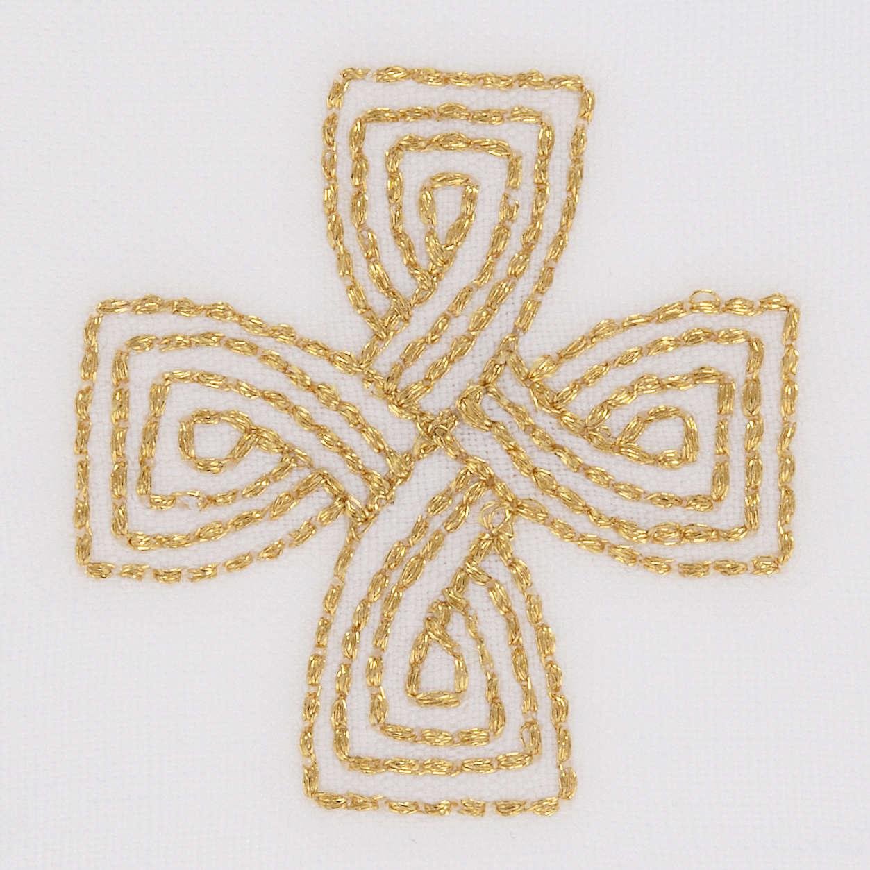 Mass linens with golden cross, 100% linen 4