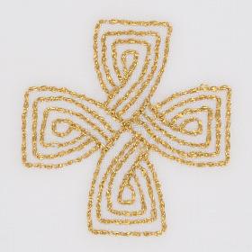 Mass linens with golden cross, 100% linen s3