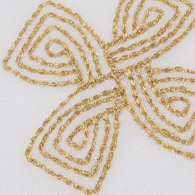 Mass linens with golden cross, 100% linen s5