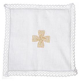 Mass linens with golden cross, 100% linen s2