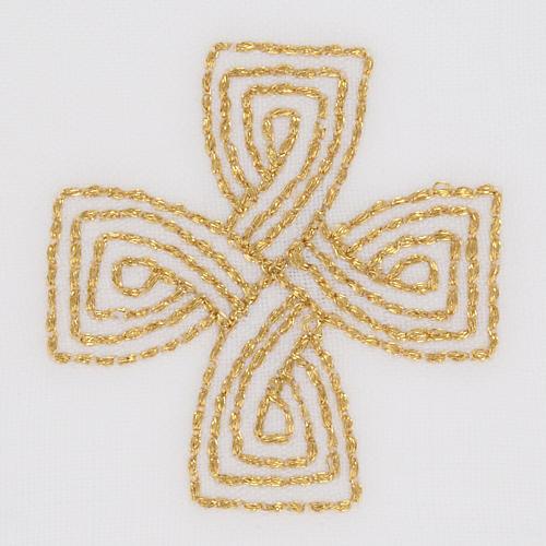 Mass linens with golden cross, 100% linen 3