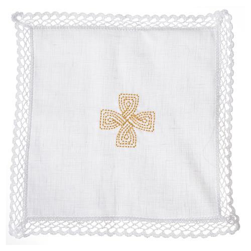 Mass linens with golden cross, 100% linen 6