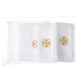 Altar linens with golden cross s2
