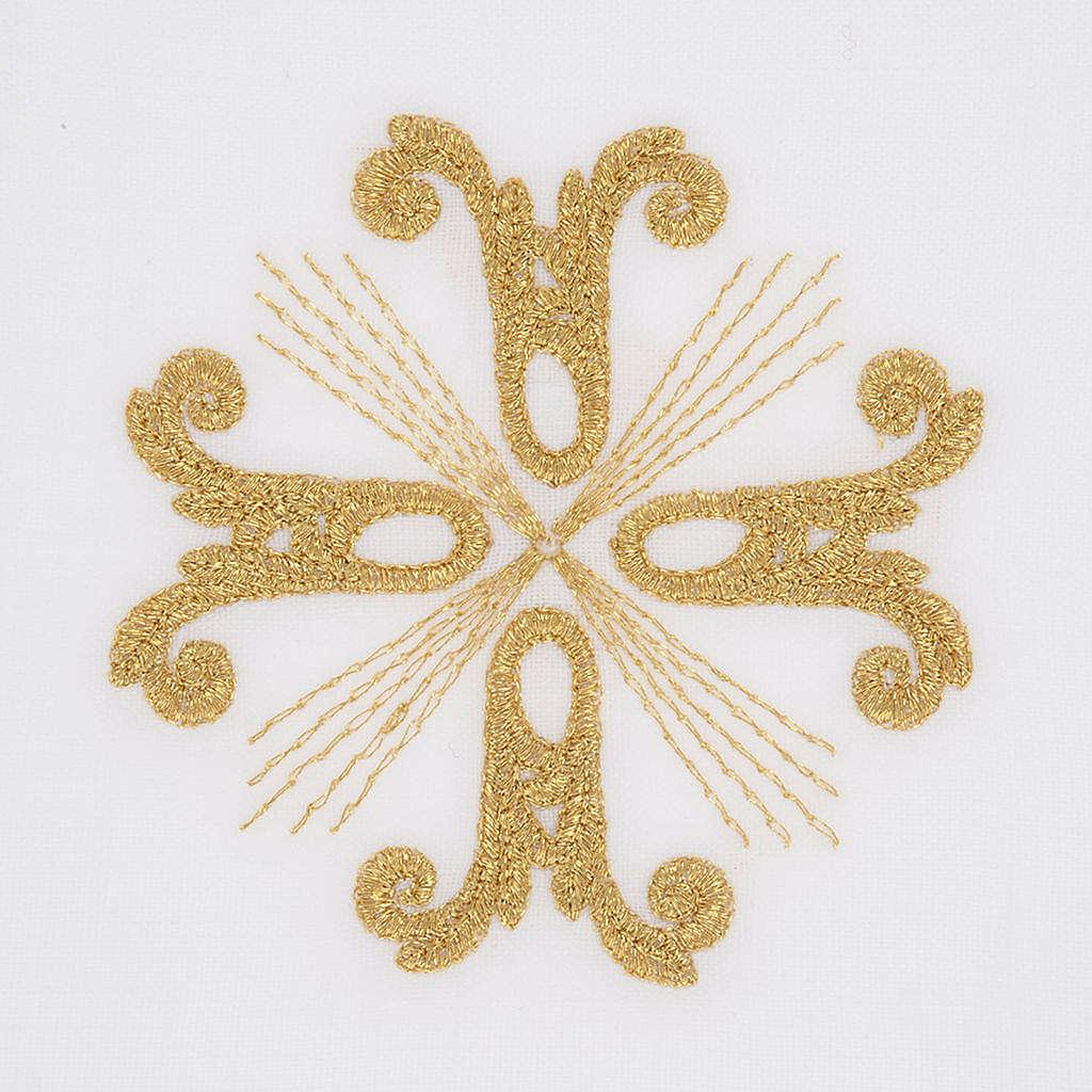 Linge d'autel croix dorée et rayons 4
