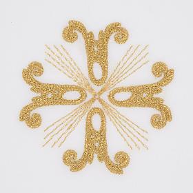 Linge d'autel croix dorée et rayons s2