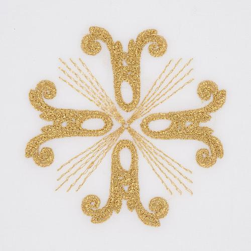 Linge d'autel croix dorée et rayons 2