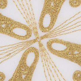 Conjunto alfaias cruz ouro raios s3