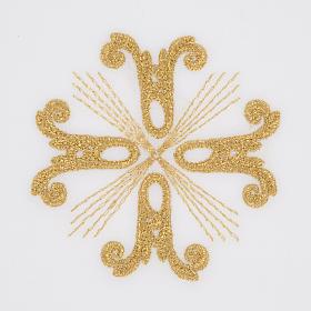 Altar linen set with golden cross, 100% linen s3