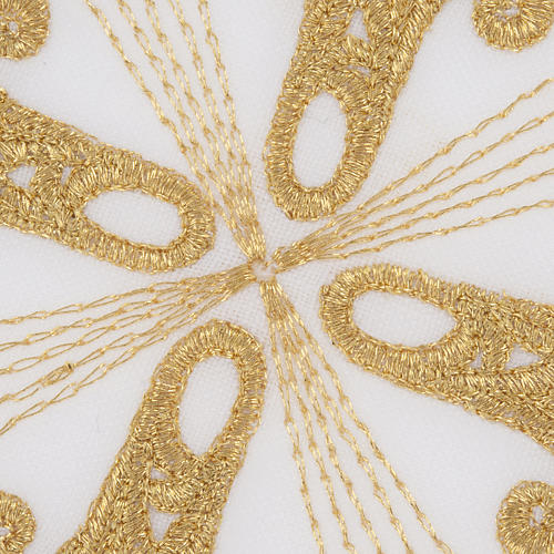 Altar linen set with golden cross, 100% linen 5