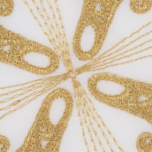 Altar linen set with golden cross, 100% linen 3