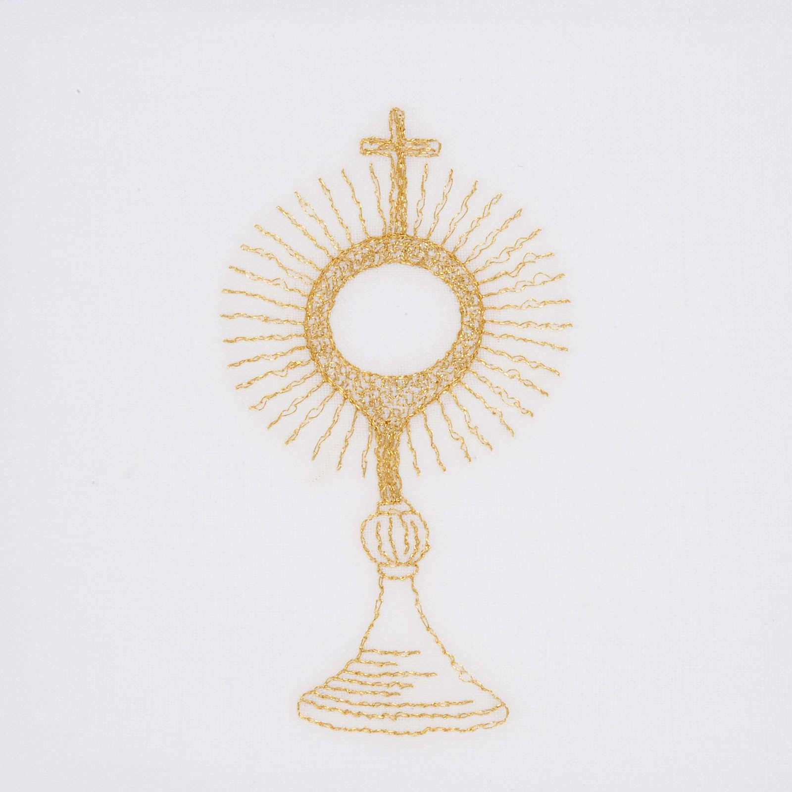 Linge d'autel ostensoir doré 4