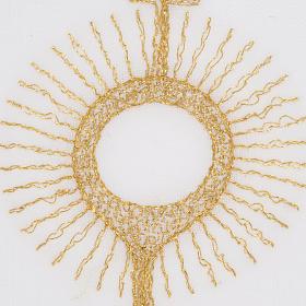Linge d'autel ostensoir doré s3