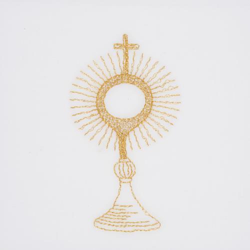 Linge d'autel ostensoir doré 2
