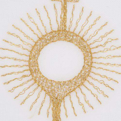 Linge d'autel ostensoir doré 3