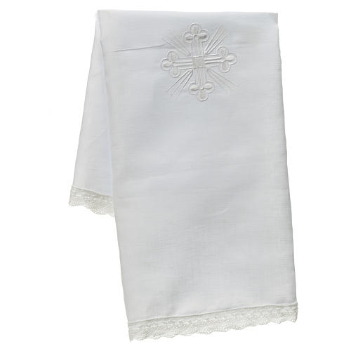 Altar linens, Corporal in linen and polyester 1