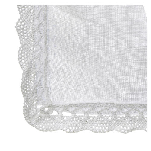 Altar linens, Corporal in linen and polyester 3