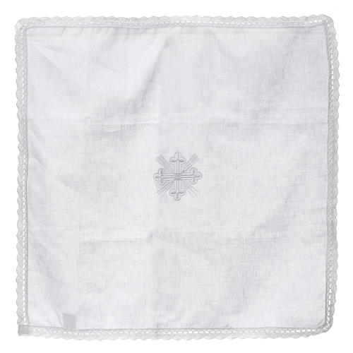 Altar linens, Corporal in linen and polyester 4
