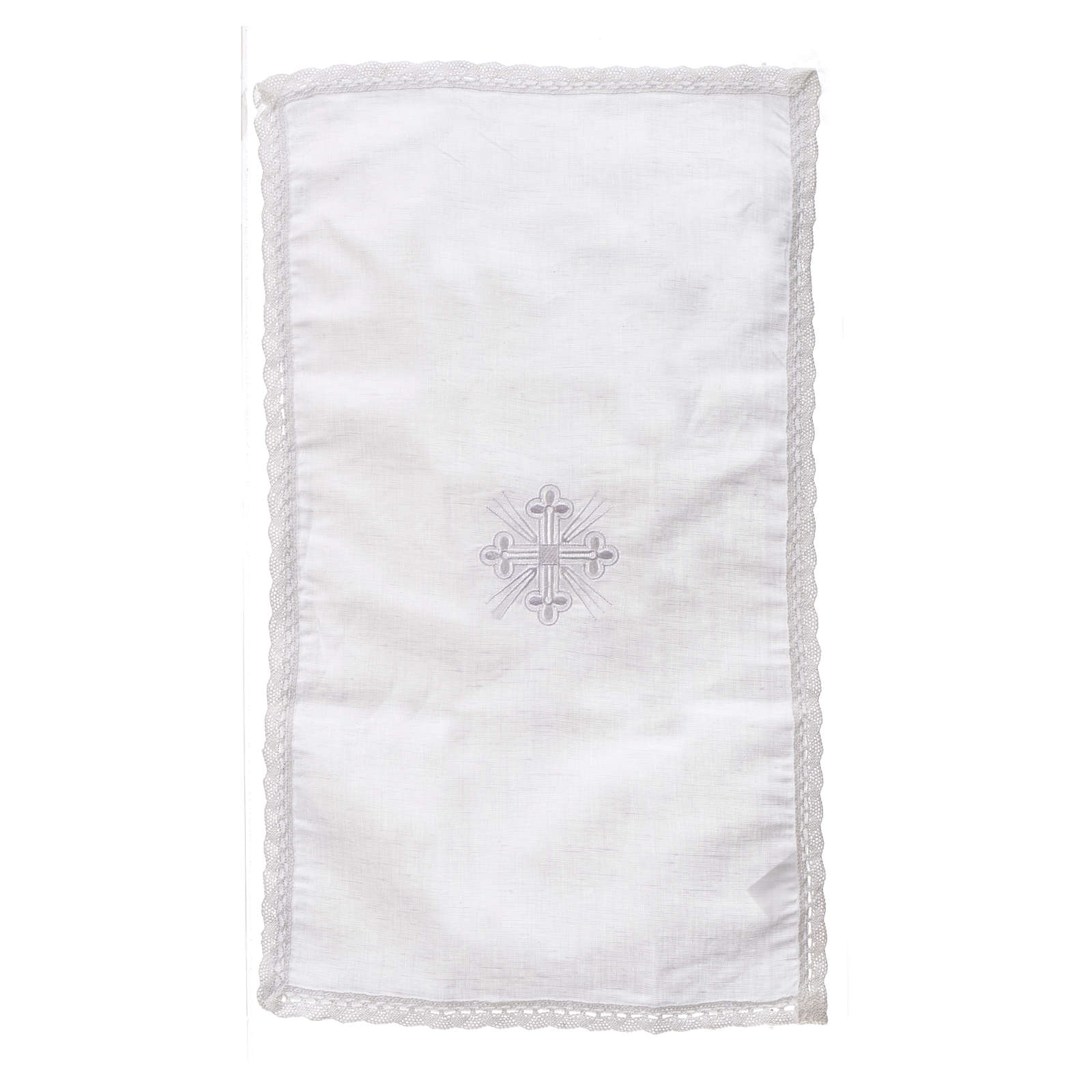 Altar linens, Purificator in linen and polyester 4