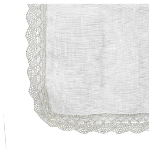 Altar linens, Manuterge in linen and polyester 2