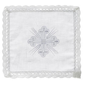 Altar linens: Altar linens, Pall in linen and polyester