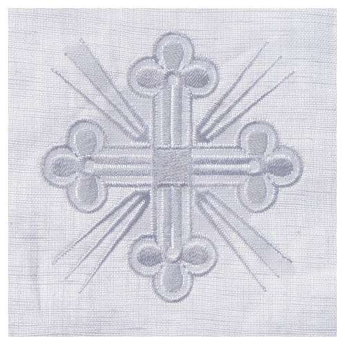 Altar linens, Pall in linen and polyester 2
