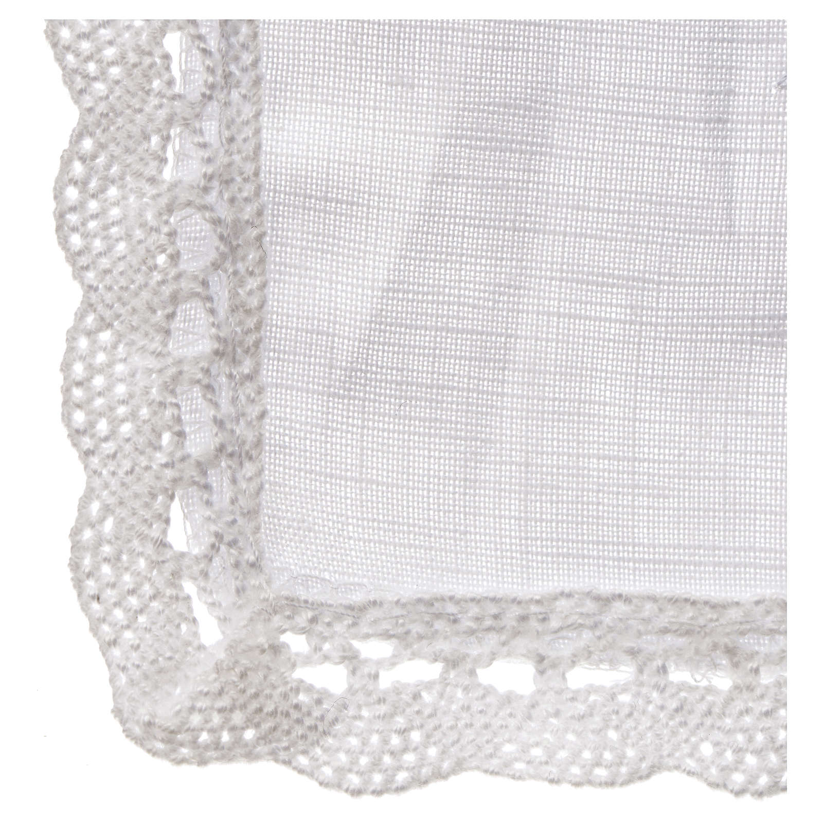 Altar linens, Pall in linen and polyester 4