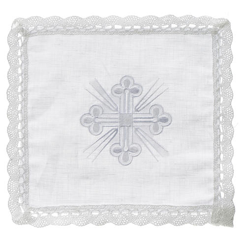 Altar linens, Pall in linen and polyester 1